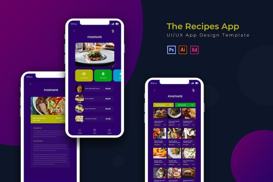 FoodtasteRecipes   App Design Template