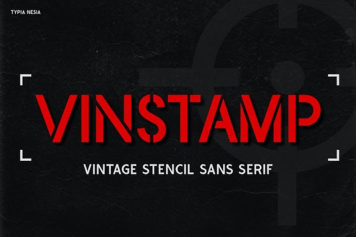 Vinstamp - Military Game Stencil Font
