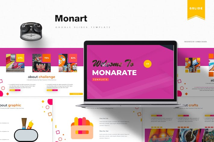 Thumbnail for Monart | Google Slides Template