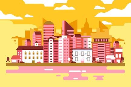 Stadtgebäude - Hintergrund-Illustration