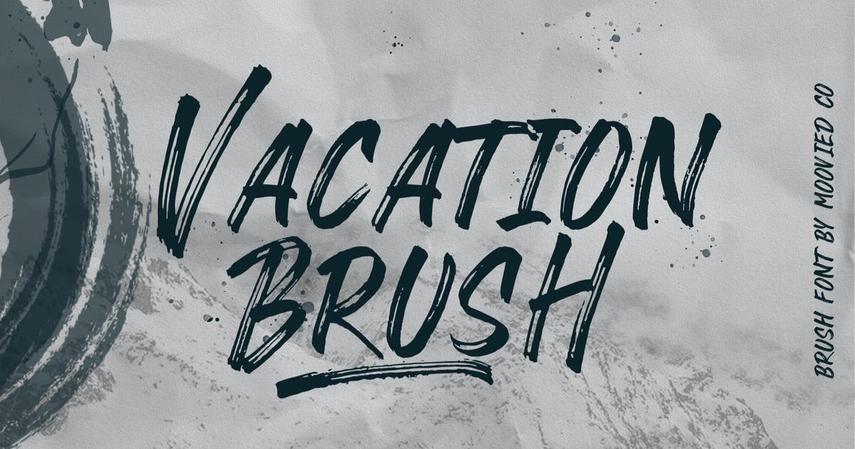 Download VACATION BRUSH by templatehere