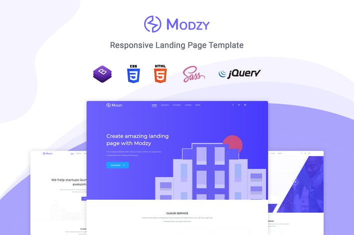 Thumbnail for Modzy - Landing Page Template