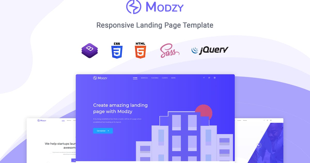 Download Modzy - Landing Page Template by themesdesign