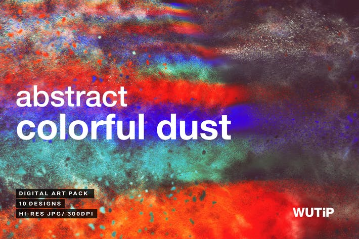 Thumbnail for Abstract Colorful Dust Backgrounds