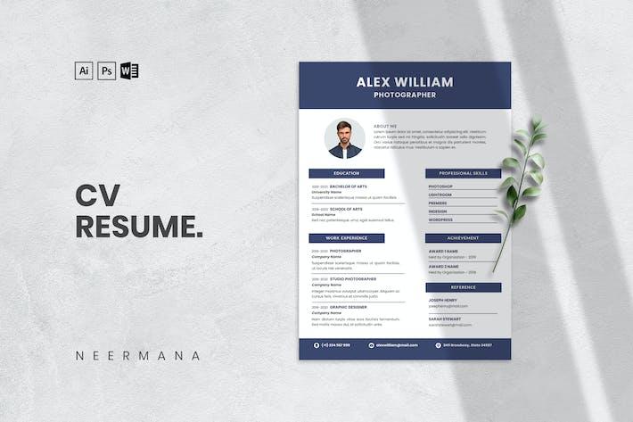 CV Resume Template V.8