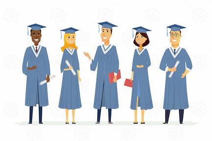 Glückliche Absolventen - Vektor illustration