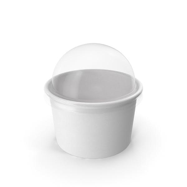 Taza de papel con tapa transparente para postre, 150 ml