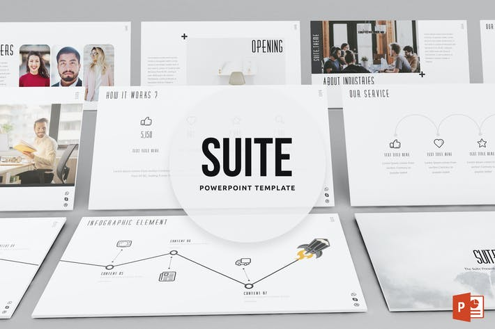 Thumbnail for Suite Powerpoint Template