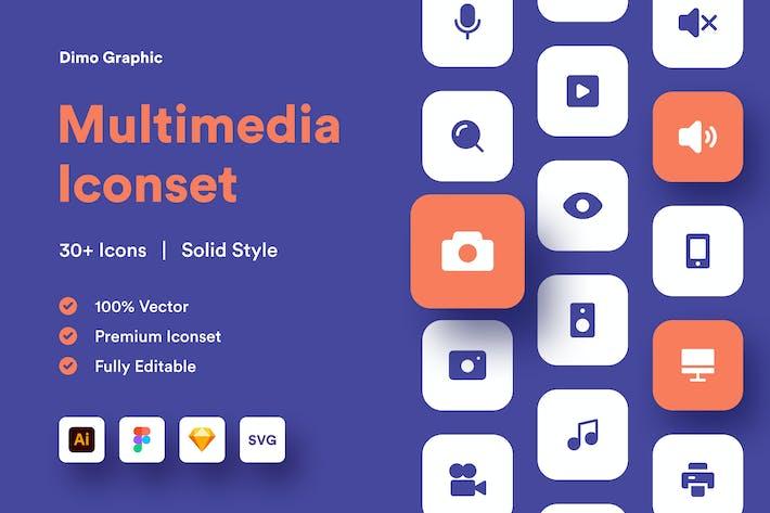 Multimedia Iconset Solid UZ