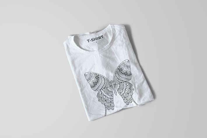 Thumbnail for Butterfly Mandala T-Shirt Design Illustration