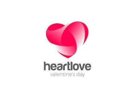Logo Heart Love symbol design