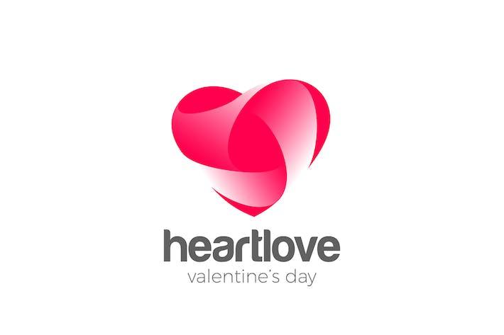 Thumbnail for Logo Heart Love symbol design