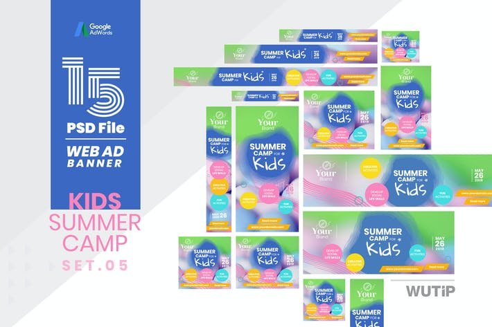 Thumbnail for Web Ad Banner-Kids Summer Camp 05