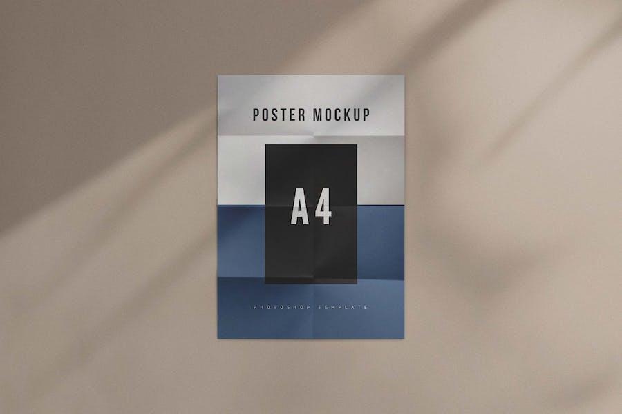 Minimalist Folded Poster Mockup
