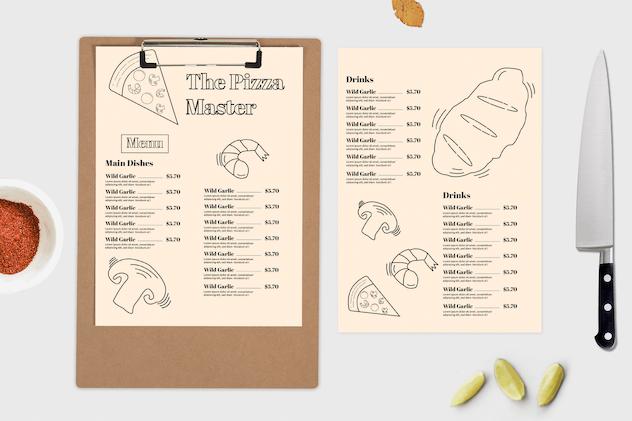 Pizzaria – Food Menu Template