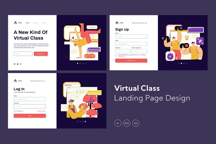 Virtual Class Landing Page Design