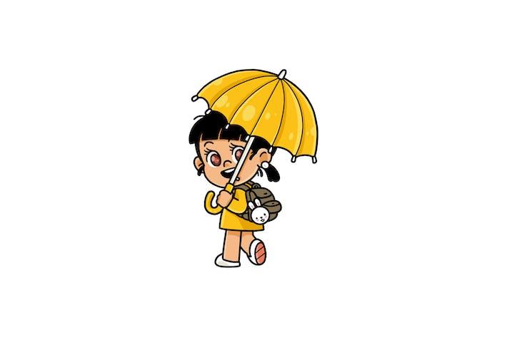 Paraguas Chica - Carácter RG