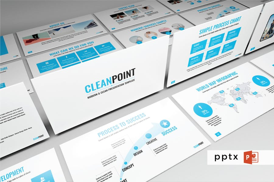 CLEANPOINT - Multipurpose Powerpoint Template  V75