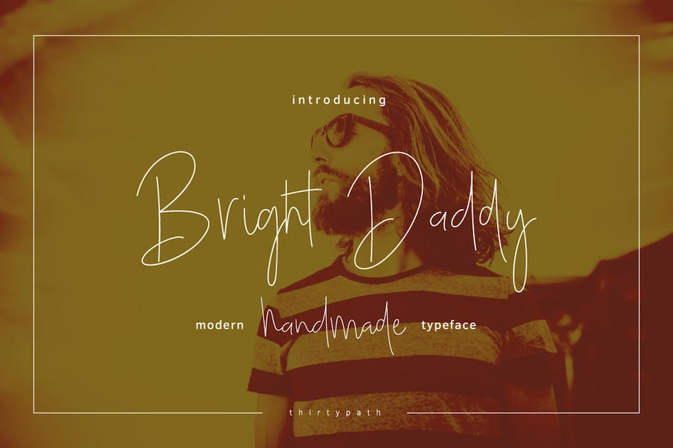 Download Bright Daddy Typeface by thirtypath