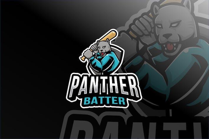 Thumbnail for Panther Batter Esport Logo Template
