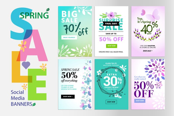 Thumbnail for Spring sale banners