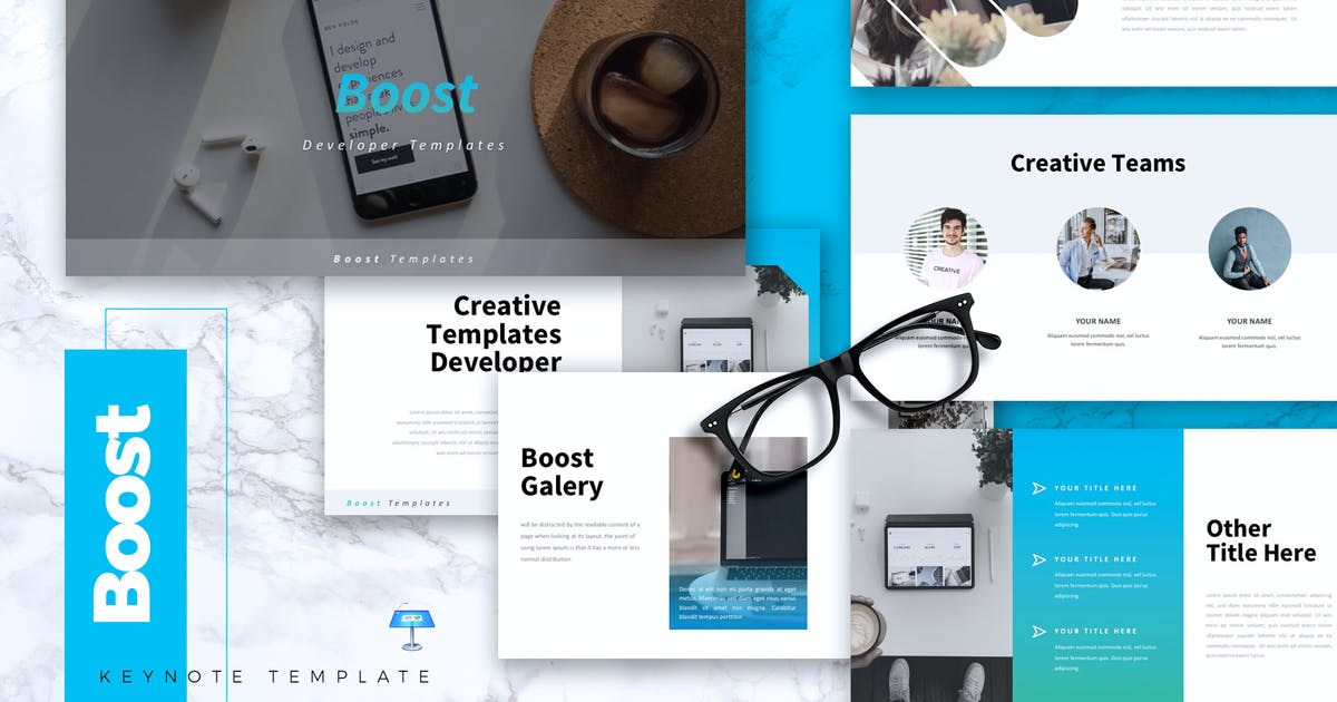 Download BOOST - IT Company Keynote Template by RahardiCreative