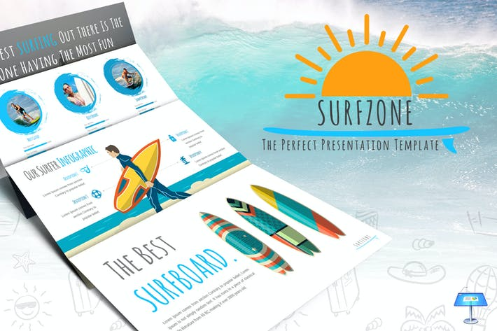 Thumbnail for Surfzone - Keynote Template