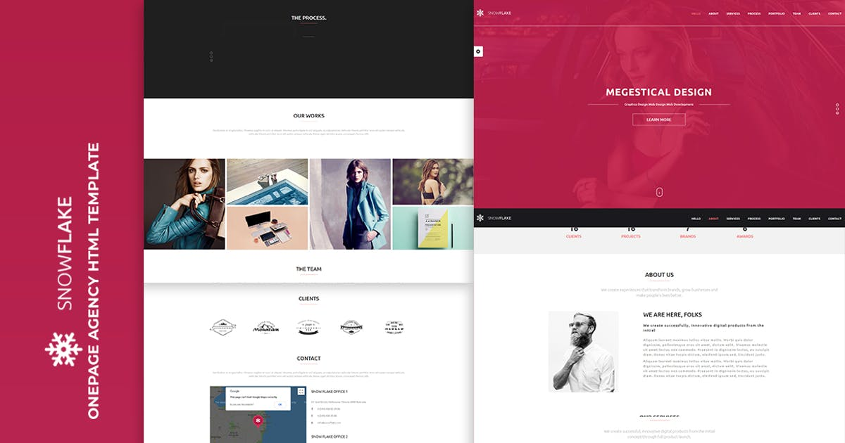 Download SNOWFLAKE | Onepage Agency HTML Template by htmlbeans