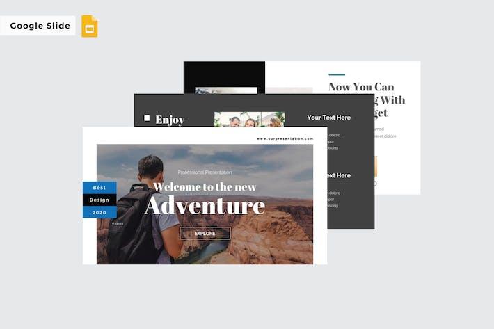 Thumbnail for NEW ADVENTURE - Google Slide Template V270