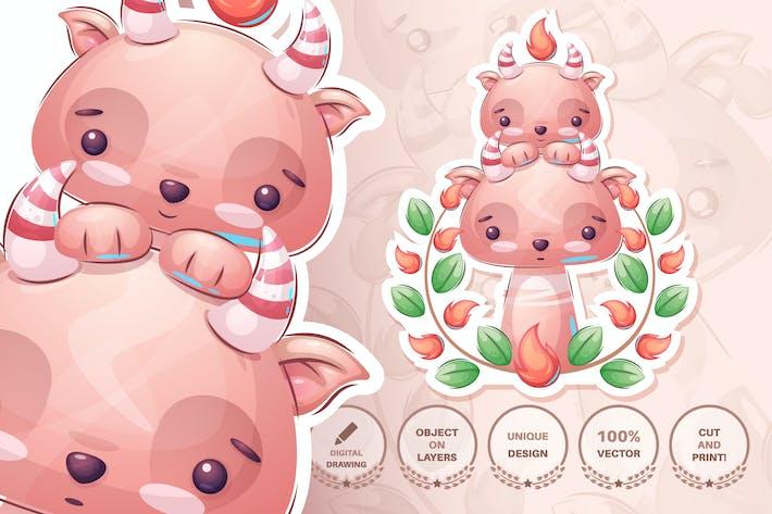 Thumbnail for Cute devil - seamless pattern