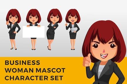 Business Woman Charakter Maskottchen Set