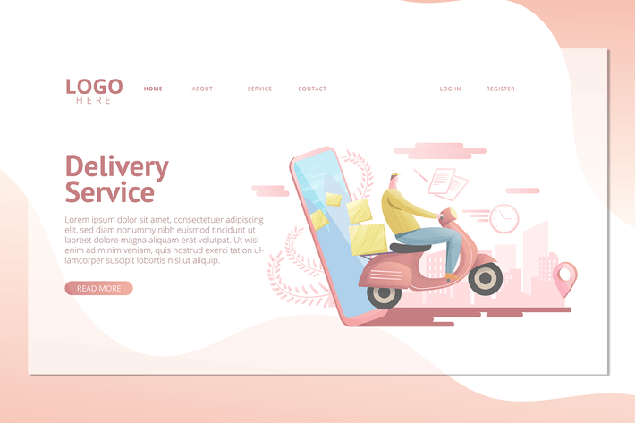 Thumbnail for Delivery Service  - Landing Page