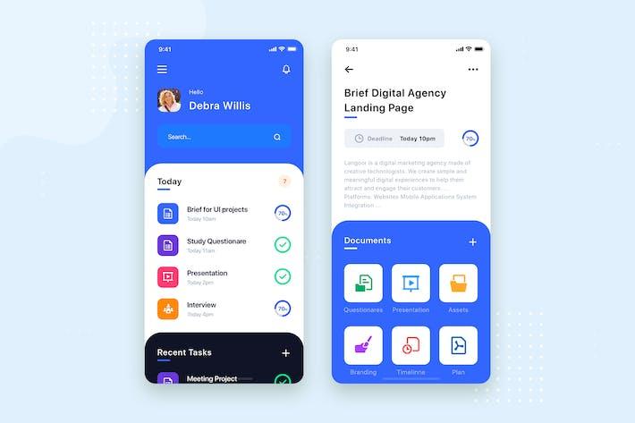 Thumbnail for Task Management Mobile App UI Kit Template