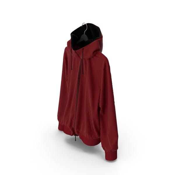 Jacke Rot auf Aufhänger