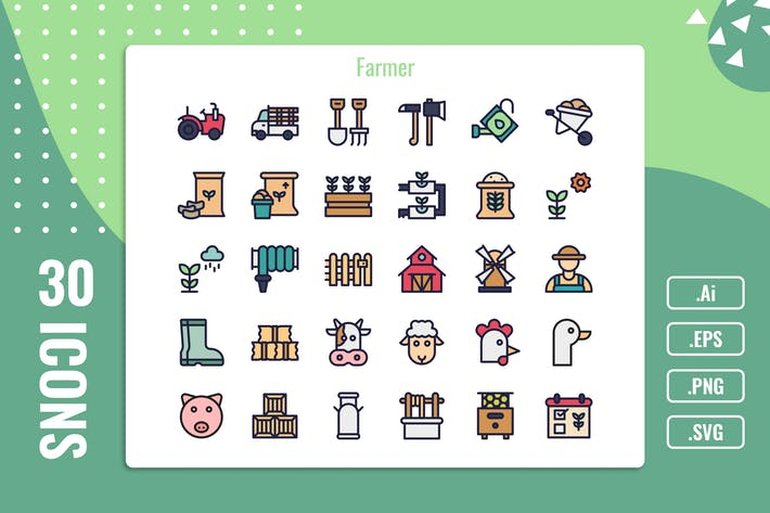 Thumbnail for 30 Iconset for Farm with 5 styles