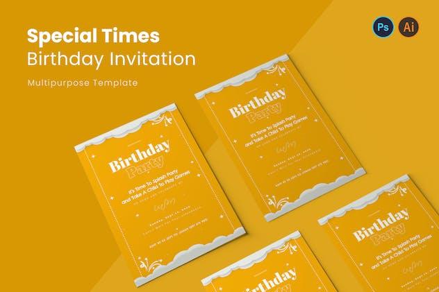 Special Times Birthday Invitation