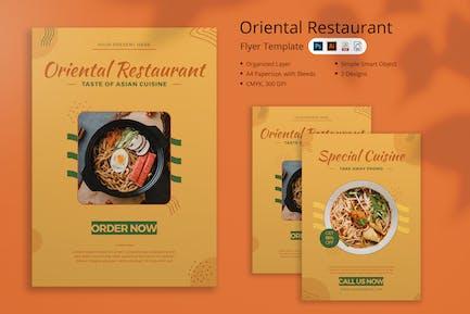 Oriental Restaurant Flyer