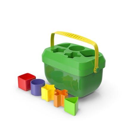 Juguete clasificador de forma de bloques de bebé