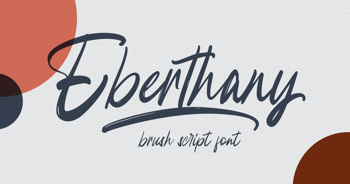 Download Eberthany Brush Script by templatehere