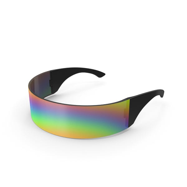 Futuristic Rainbow Shield Sunglasses