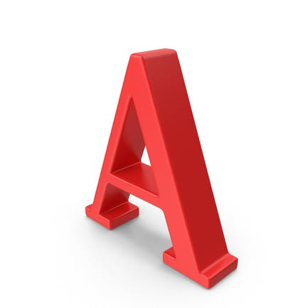 Letra roja mayúscula A