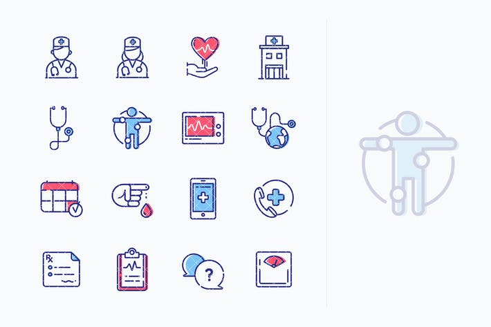 Thumbnail for Medical & Health Care Icons Set 1 - Outline Series