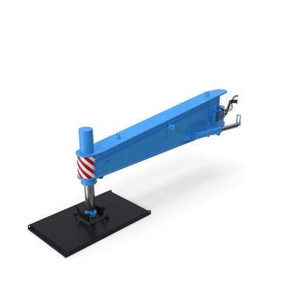 Crane Outrigger Large 03 Blue