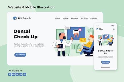 Regular Dental Check up web and mobile