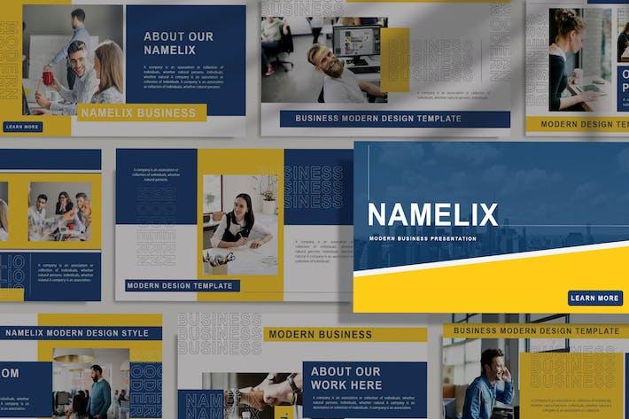 Thumbnail for NAMELIX - Современный шаблон Keynote для бизнеса