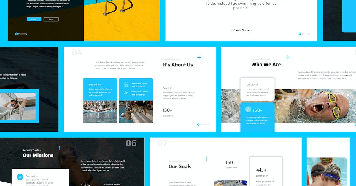 Download Swimming Powerpoint Presentation Template by giantdesign