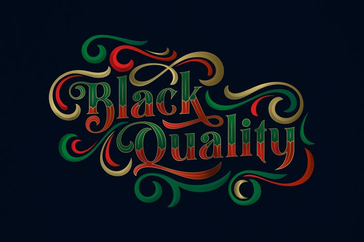 Black Quality Typeface