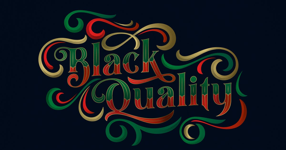 Download Black Quality Typeface by alit_design