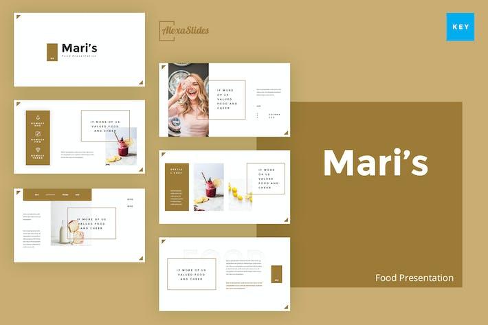 Thumbnail for Mari - Food Keynote Presentation Template