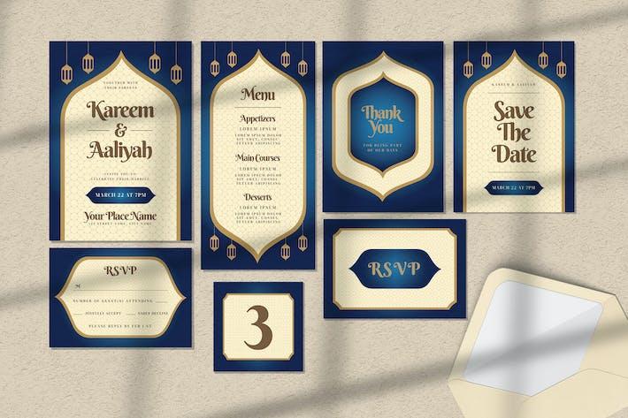 Wedding Invitation Set - Arabic Style